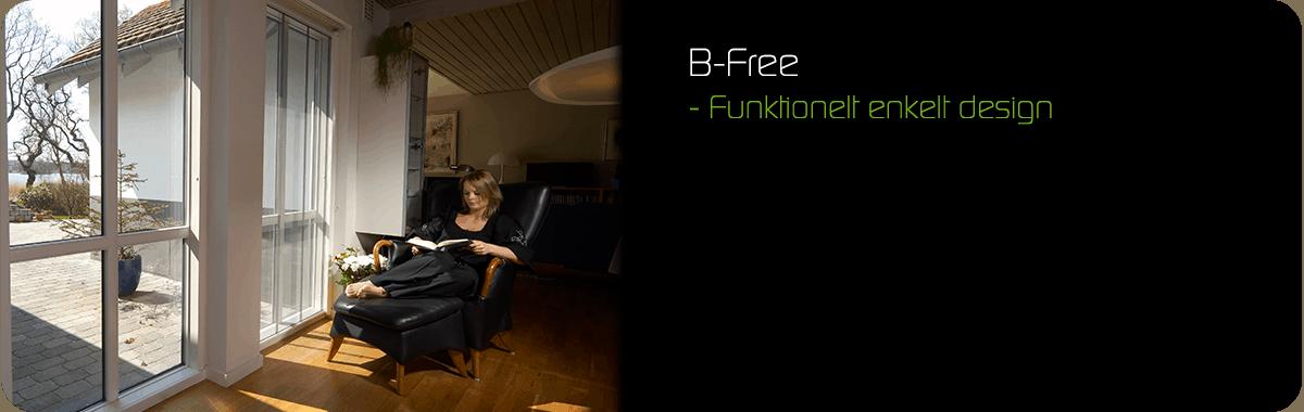 B-free - funktionelt enkelt design
